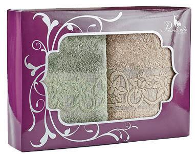 Полотенца Primavelle Полотенце Deni Цвет: Зеленый чай+Светло-Коричневый (50х90 см - 2 шт ) цена и фото