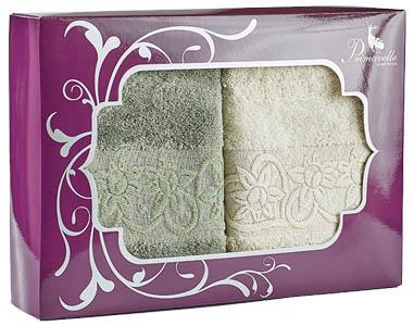 Полотенца Primavelle Полотенце Deni Цвет: Зеленый чай+Слоновая Кость (50х90 см - 2 шт ) цена и фото