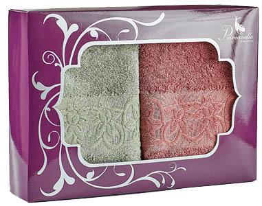 Полотенца Primavelle Полотенце Deni Цвет: Зеленый чай+Ягодный (50х90 см - 2 шт ) цена и фото