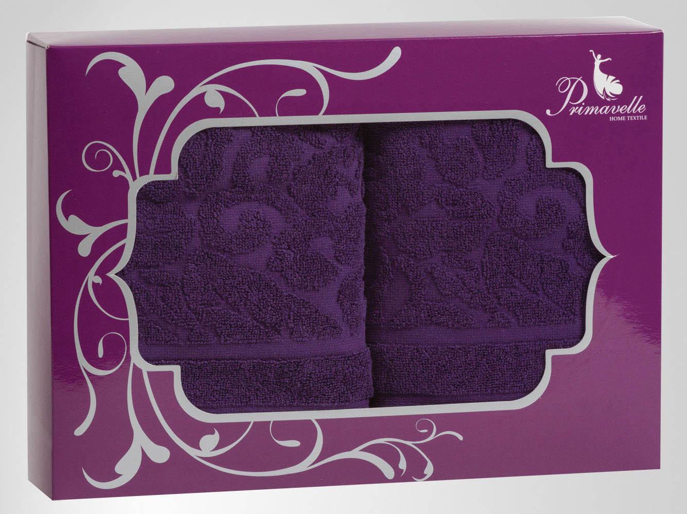 Полотенца Primavelle Полотенце Fiona Цвет: Фиолетовый (50х90 см - 2 шт) цена и фото