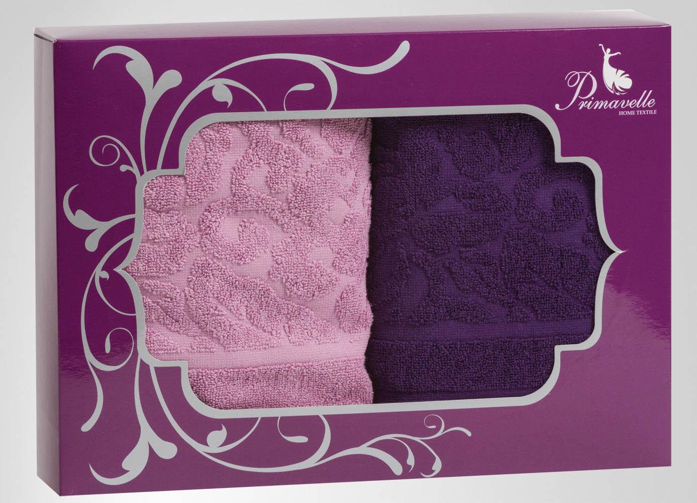 Полотенца Primavelle Полотенце Fiona Цвет: Фиолетовый+Лиловый (50х90 см - 2 шт) цена и фото