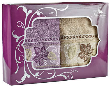 Полотенца Primavelle Полотенце Lea Цвет: Лиловый+Светло-Коричневый (50х90 см - 2 шт ) полотенца primavelle полотенце fiona цвет лиловый 50х90 см 2 шт