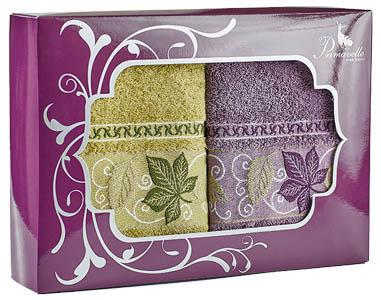 Полотенца Primavelle Полотенце Lea Цвет: Оливковый+Лиловый (50х90 см - 2 шт ) полотенца primavelle полотенце fiona цвет лиловый 50х90 см 2 шт