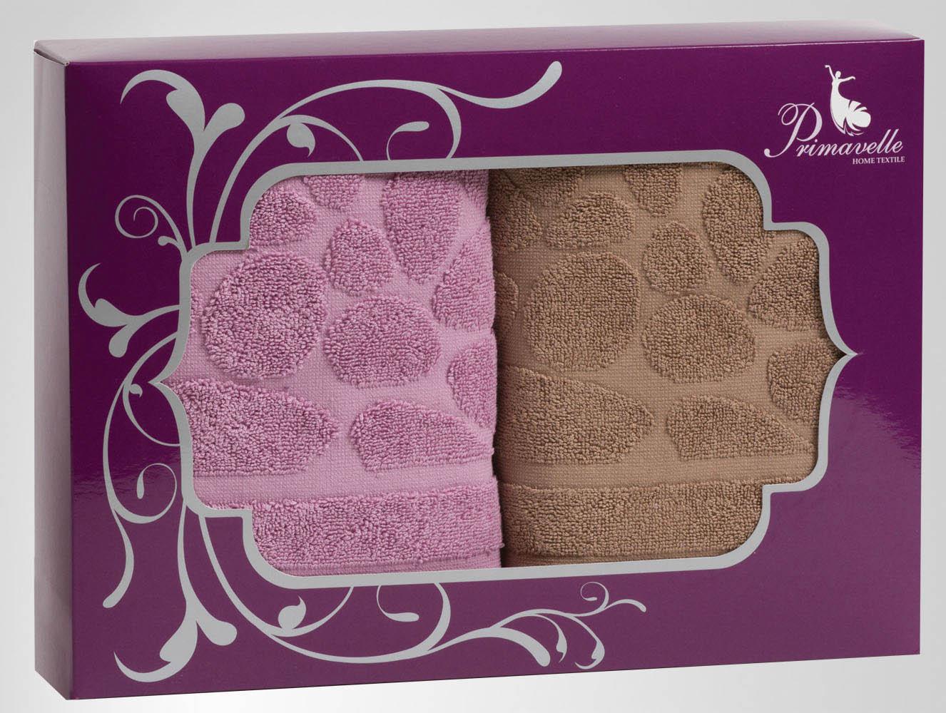 Полотенца Primavelle Полотенце Piera Цвет: Коричневый+Лиловый (50х90 см - 2 шт) цена и фото