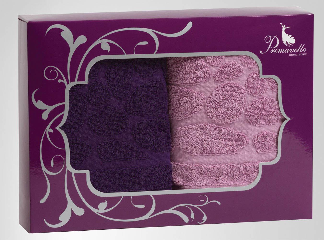 Полотенца Primavelle Полотенце Piera Цвет: Фиолетовый+Лиловый (50х90 см - 2 шт) цена и фото