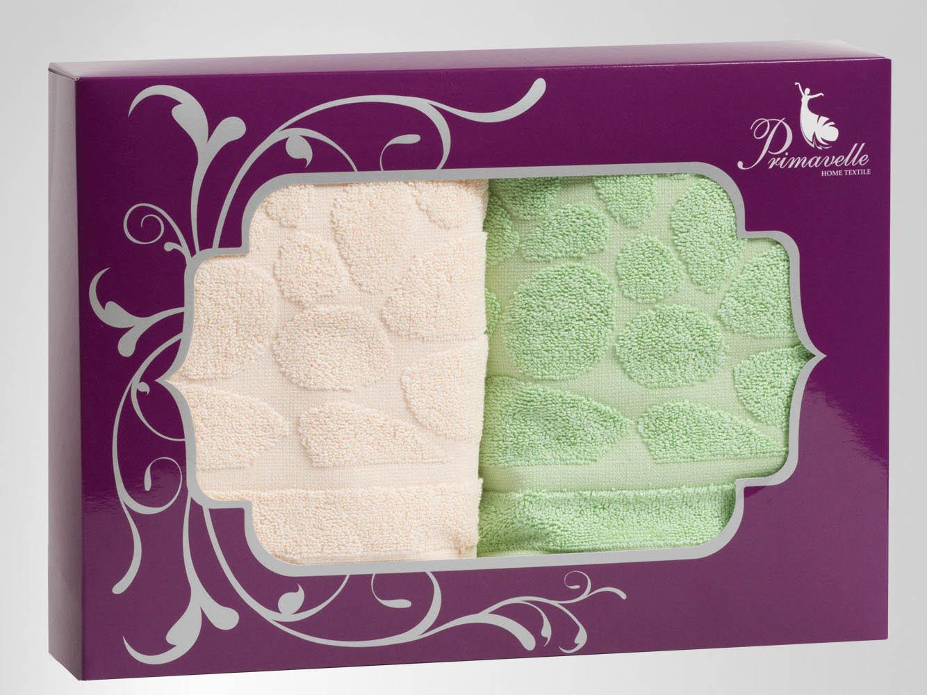 Полотенца Primavelle Полотенце Piera Цвет: Зеленый+Бежевый (50х90 см - 2 шт) цена и фото