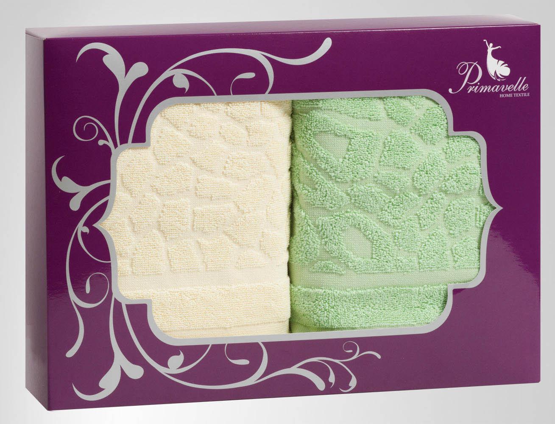 Полотенца Primavelle Полотенце Vitra Цвет: Зеленый+Ваниль (50х90 см - 2 шт) цена и фото