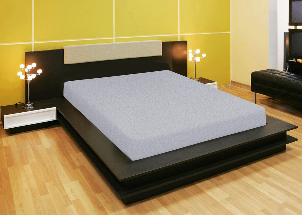 Простыни Amore Mio Простыня на резинке Quiet Цвет: Серый (120х200) простыни candide простыня bamboo fitted sheet 130г м2 60x120 см