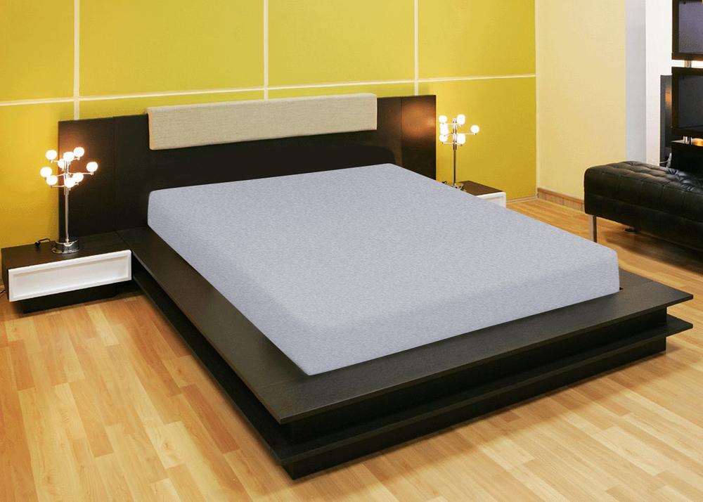 Простыни Amore Mio Простыня на резинке Quiet Цвет: Серый (200х200) простыни candide простыня bamboo fitted sheet 130г м2 60x120 см