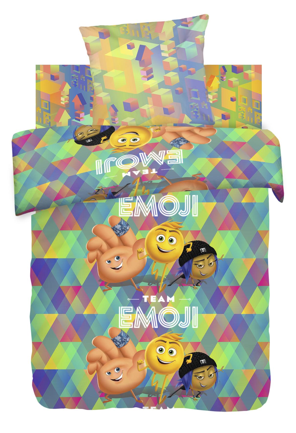 Детское Постельное белье Непоседа Детское Постельное белье Команда Эмоджи (143х215 см) непоседа непоседа детское постельное белье 1 5 спальное emoji movie эмоджи стайл