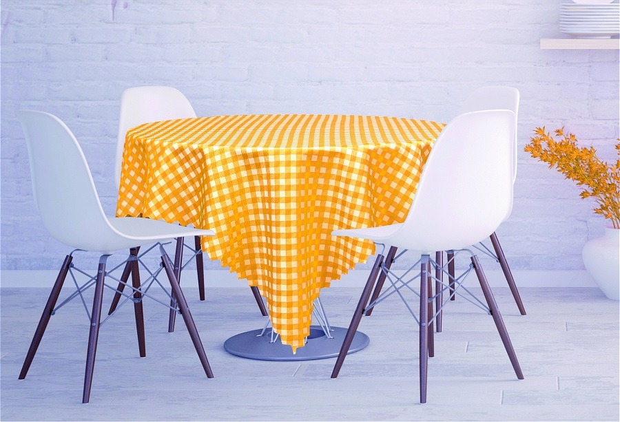 Скатерти и салфетки Haft Скатерть Kyler Цвет: Оранжевый (120х160 см) скатерти и салфетки haft скатерть листья 120х160 см
