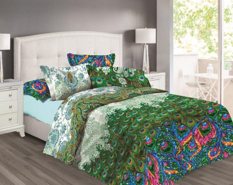 Постельное белье Любимый дом Постельное белье Павлины (2 спал.) цена