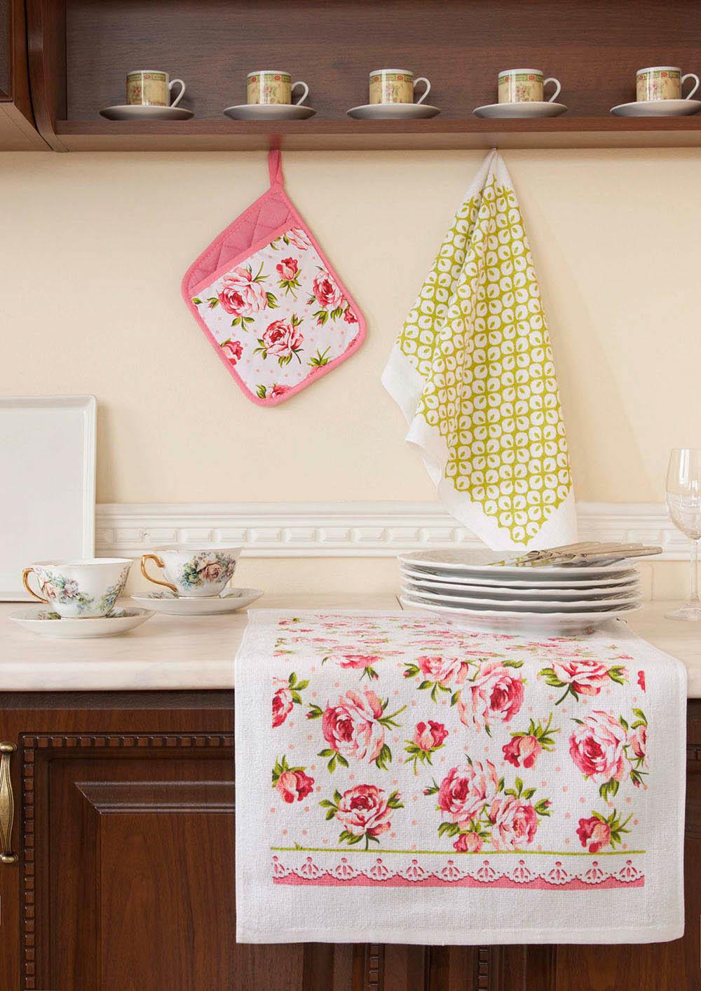 Рукавицы, прихватки, фартуки Primavelle Кухонный набор Flower стоимость