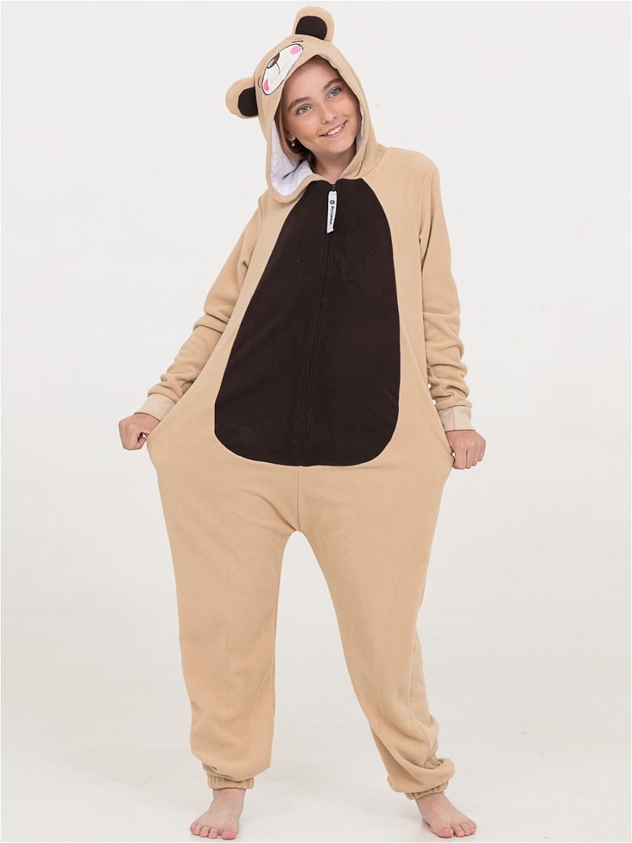 Детские пижамы Футужама Детская пижама-кигуруми Мишка Бежевый (4-6 лет) кигуруми handywear кигуруми мишка мими