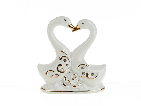 {} ENS GROUP Фигурка Белые Лебеди (4х9х9 см) подставка под ложку ens group чайная роза