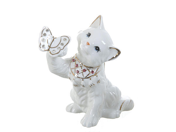 {} ENS GROUP Фигурка Белая Кошечка (9х14х14 см) фигурки glory design фигурка щенок 14 9 20 см