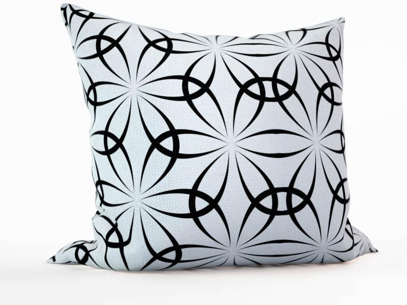 Декоративные подушки StickButik Декоративная подушка Черно-Белые Цветы (45х45)