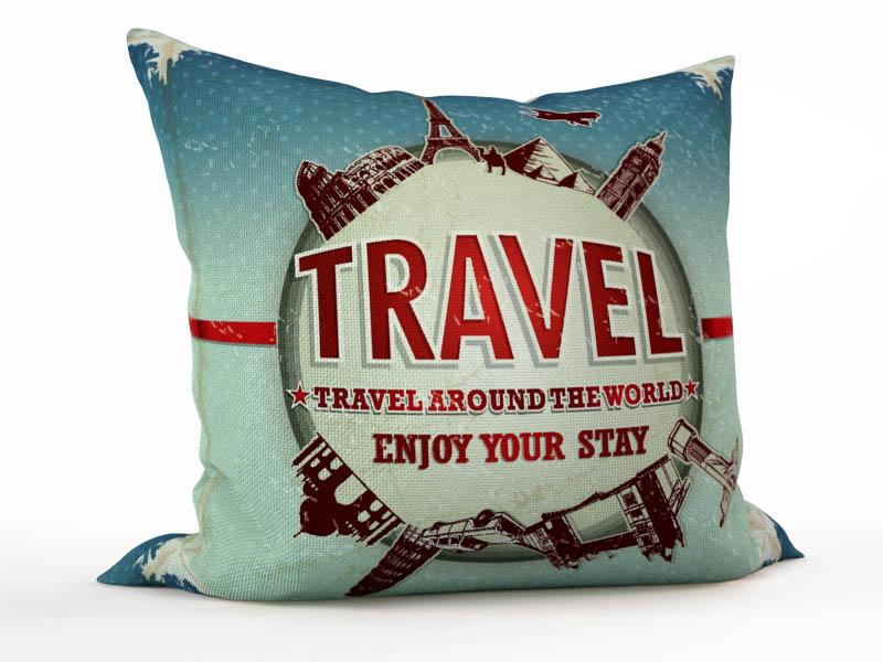 Декоративные подушки StickButik Декоративная подушка Кругосветное Путешествие (45х45) play land обучающая игра кругосветное путешествие