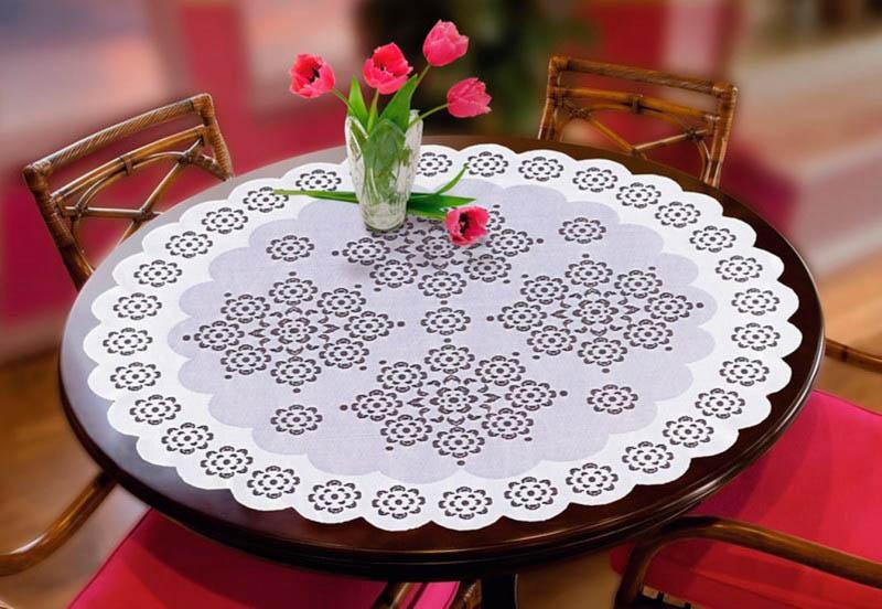 Скатерти и салфетки Wisan Салфетка Wycinanka Цвет: Кремовый (круглая 80 см) wisan