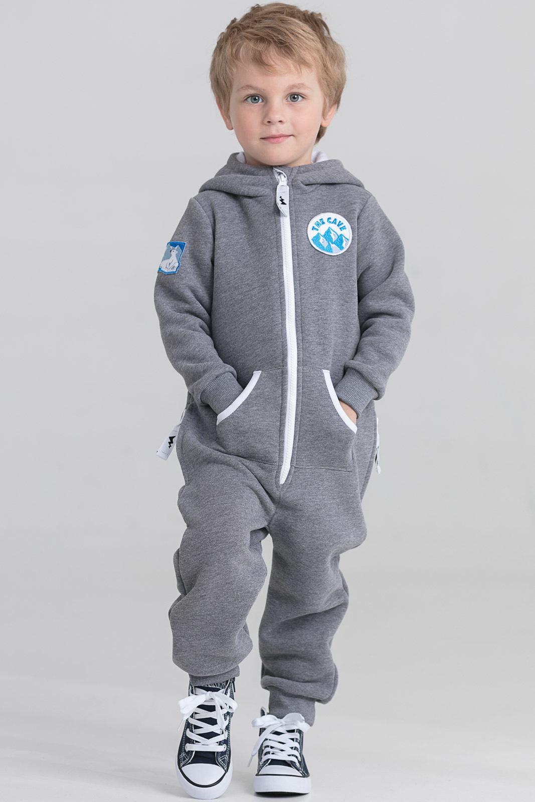 Детская домашняя одежда The Cave Детский комбинезон Darrel Цвет: Серый Меланж (4-5 лет)