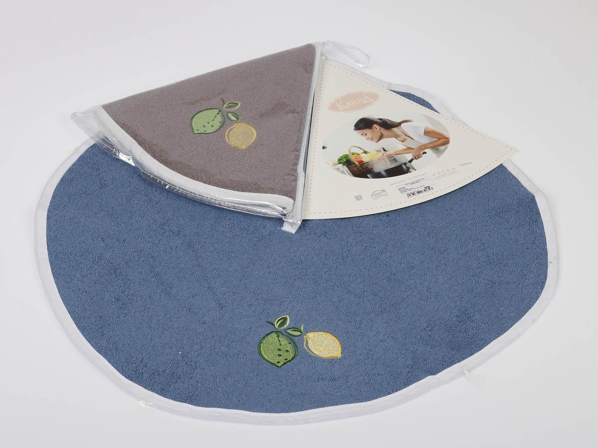 все цены на {} Karna Кухонное полотенце Zelina V3 (круглая 50 см) в интернете