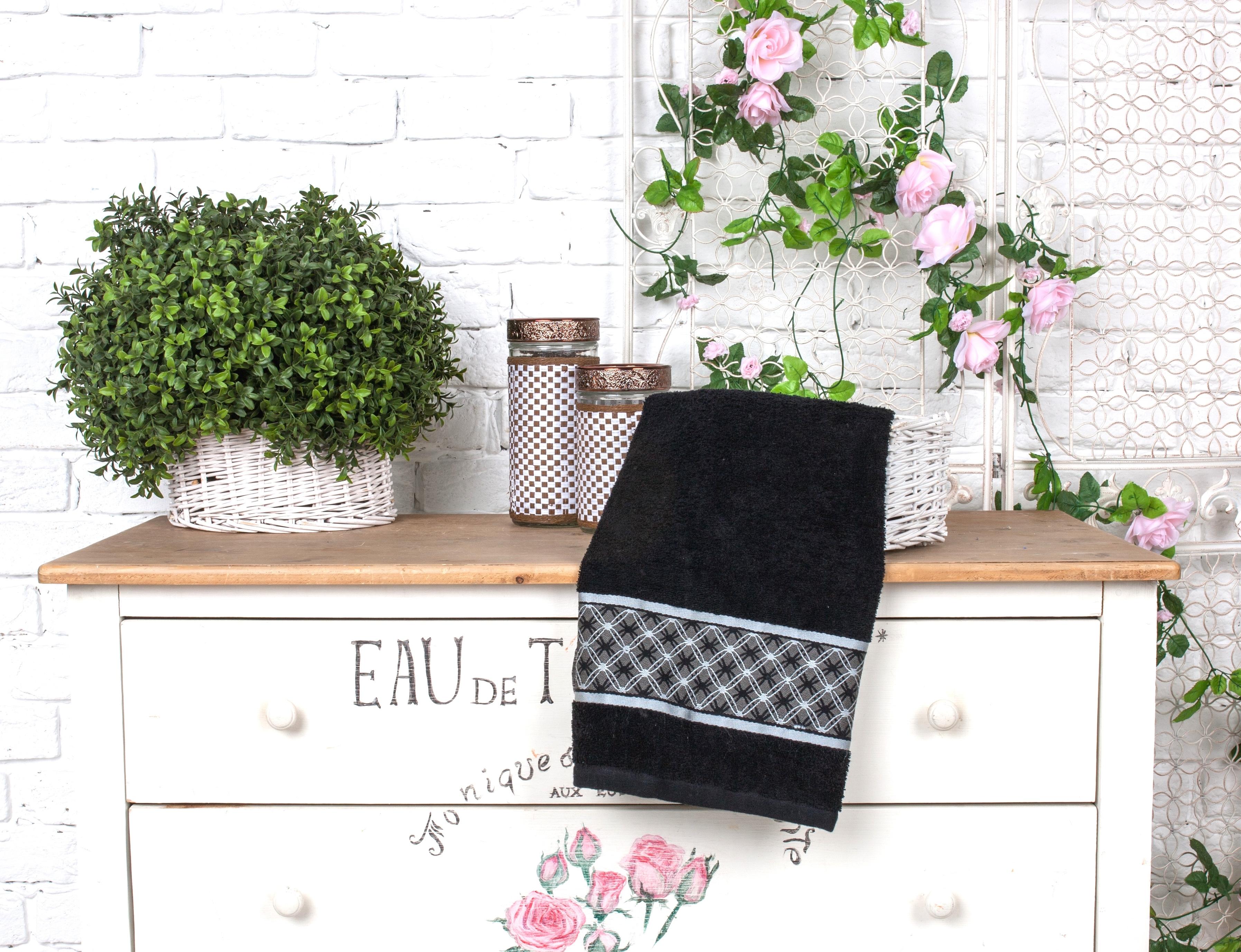 Полотенца Toalla Полотенце Шарм Цвет: Черный (70х140 см)