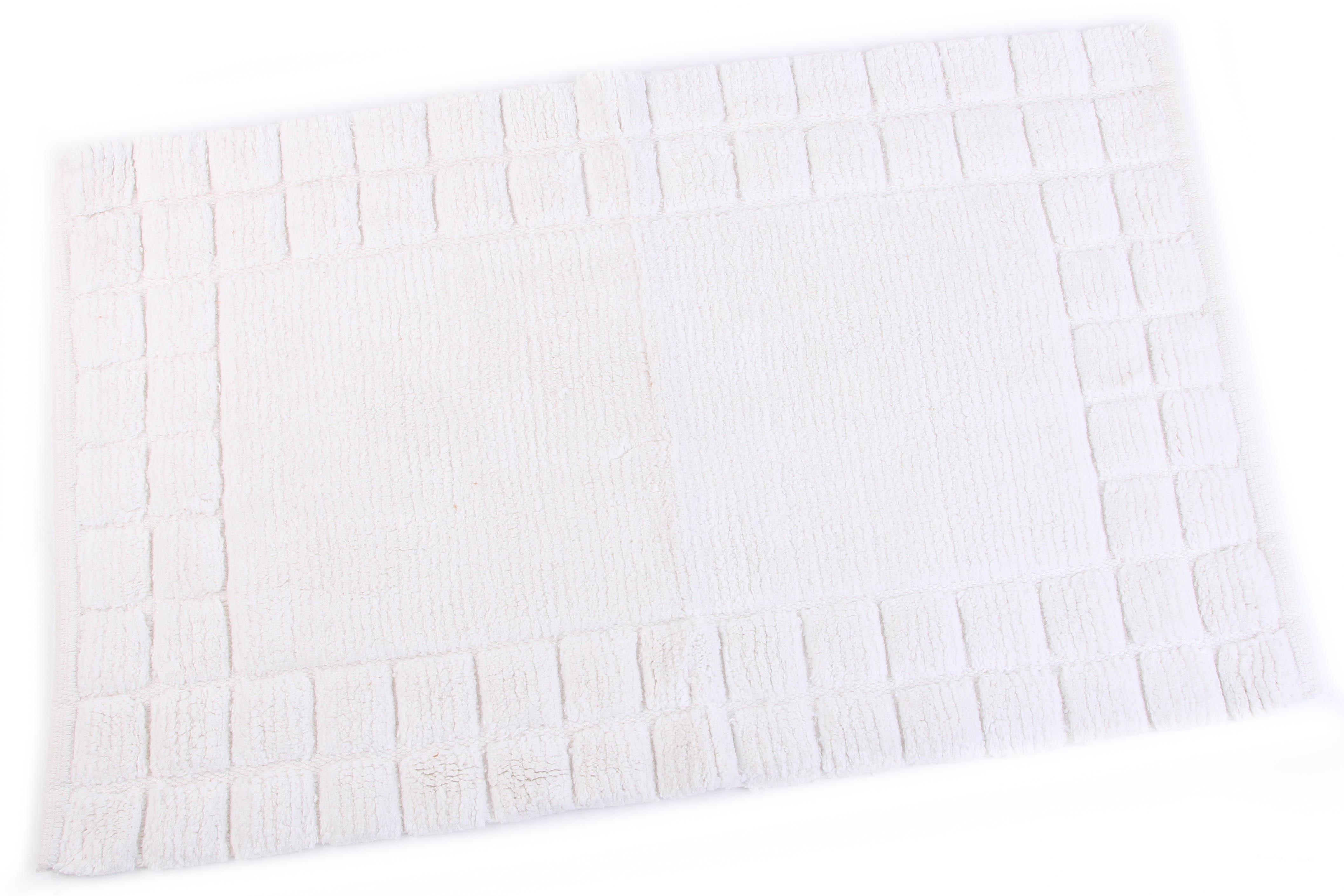 Аксессуары для ванной и туалета Ганг Коврик для ванной Thyrza Цвет: Белый (50х80 см) комод для ванной aquaton мадрид 80 белый