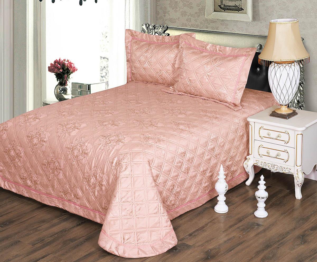 Покрывало Karna Покрывало Moneta Цвет: Пудра (230х250 см) покрывало karna rose с вышивкой пудра 200х220 см