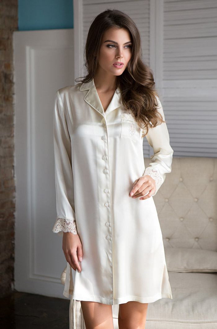 Ночные сорочки Mia-Mia Ночная сорочка Kristy Цвет: Шампань (L) ночные сорочки linse ночная сорочка