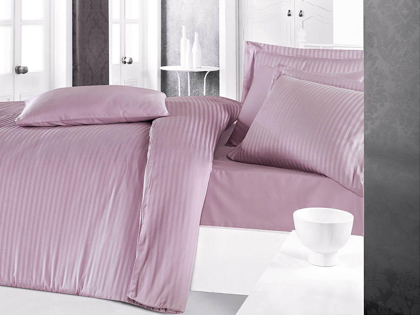 Постельное белье Clasy Постельное белье Stripe Цвет: Лиловый (2 сп. евро)
