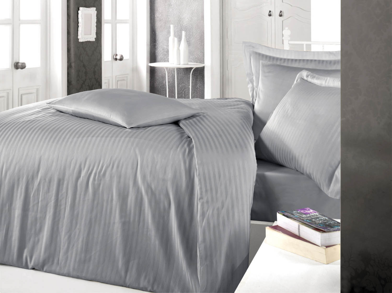Постельное белье Clasy Постельное белье Stripe Цвет: Серый (2 сп. евро)