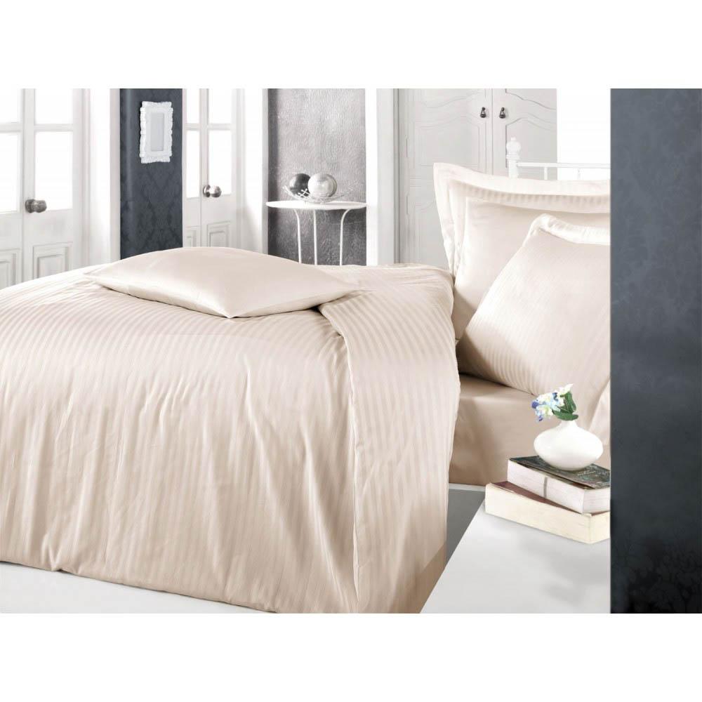 Постельное белье Clasy Постельное белье Stripe Цвет: Капучино (2 сп. евро) постельное белье clasy постельное белье vera цвет красный 2 сп евро