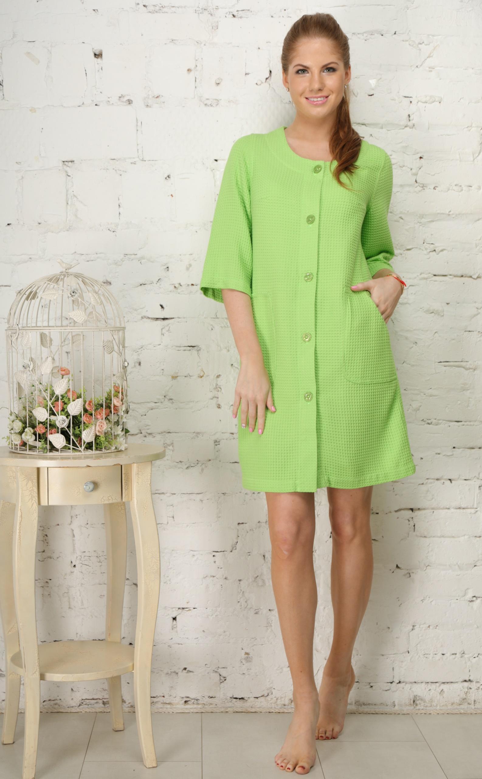 Домашние халаты Five Wien Домашний халат Madlen Цвет: Зеленый (S-M) халаты домашние лори халат