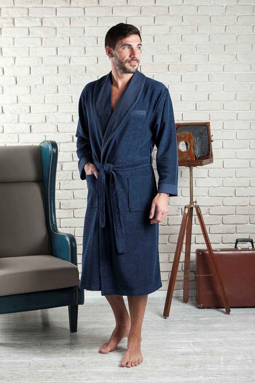Сауны, бани и оборудование Five Wien Халат Alonso Цвет: Синий (xxL) сауны бани и оборудование five wien халат alan цвет синий хххl