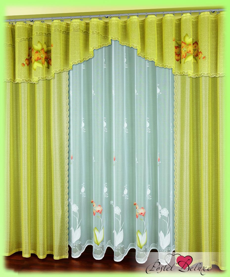 Шторы Haft Шторы с ламбрекеном Acelya Цвет: Светло haft 221074 120