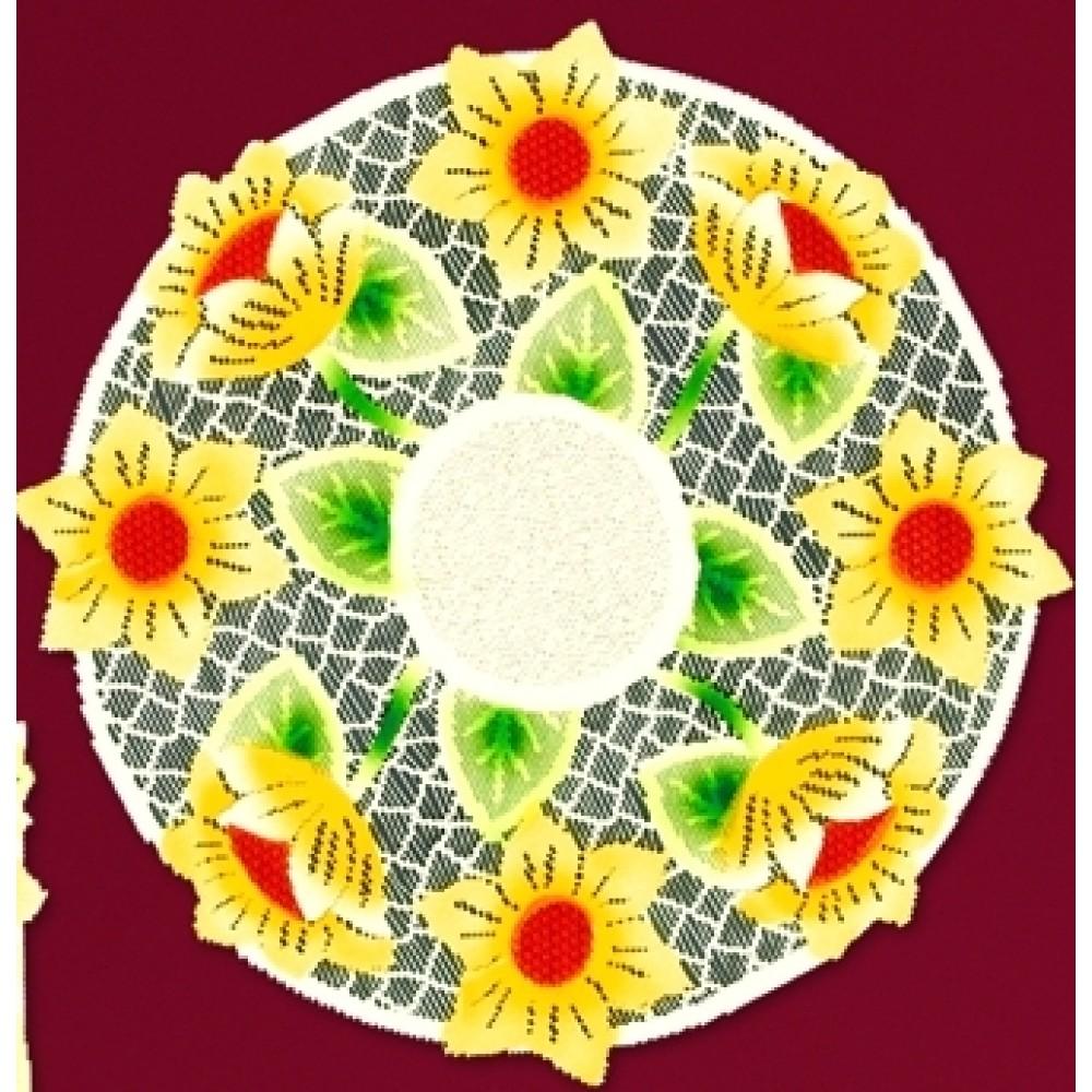 Скатерти и салфетки Haft Салфетки Подсолнухи (круглая 40 см) бинт peha haft самофиксирующийся красный 10смх4м