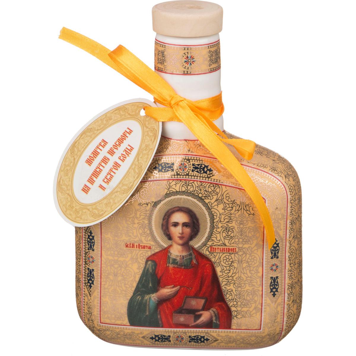 {} Lefard Сосуд для воды Святой Пантелеймон (700 мл) икона янтарная 23х33см святой пантелеймон кян 2 219