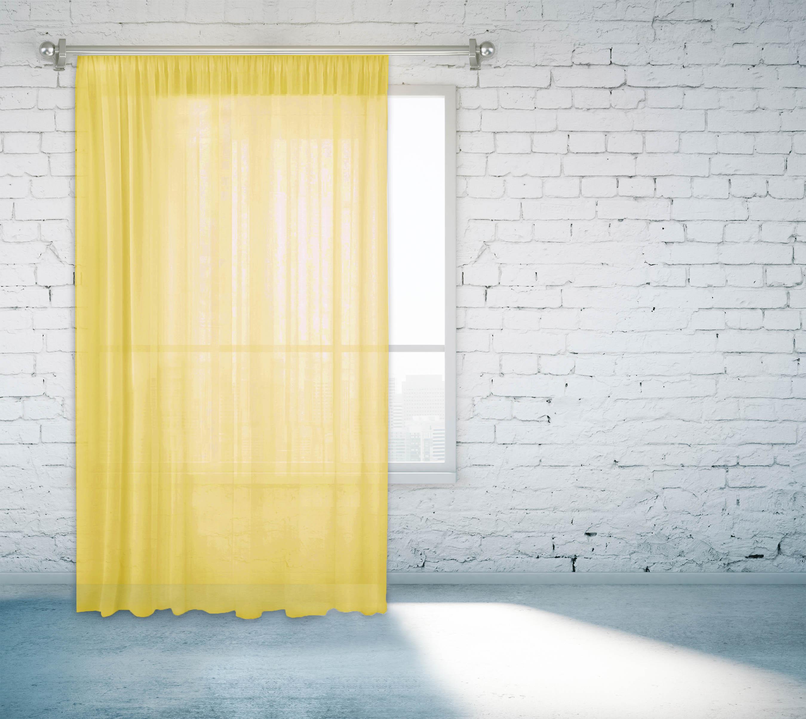 Шторы Zlata Korunka Классические шторы Amran Цвет: Светло-Желтый шторы tac классические шторы winx цвет персиковый 200x265 см
