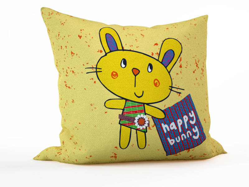 Декоративные подушки StickButik Декоративная подушка Счастливый Кролик (45х45)