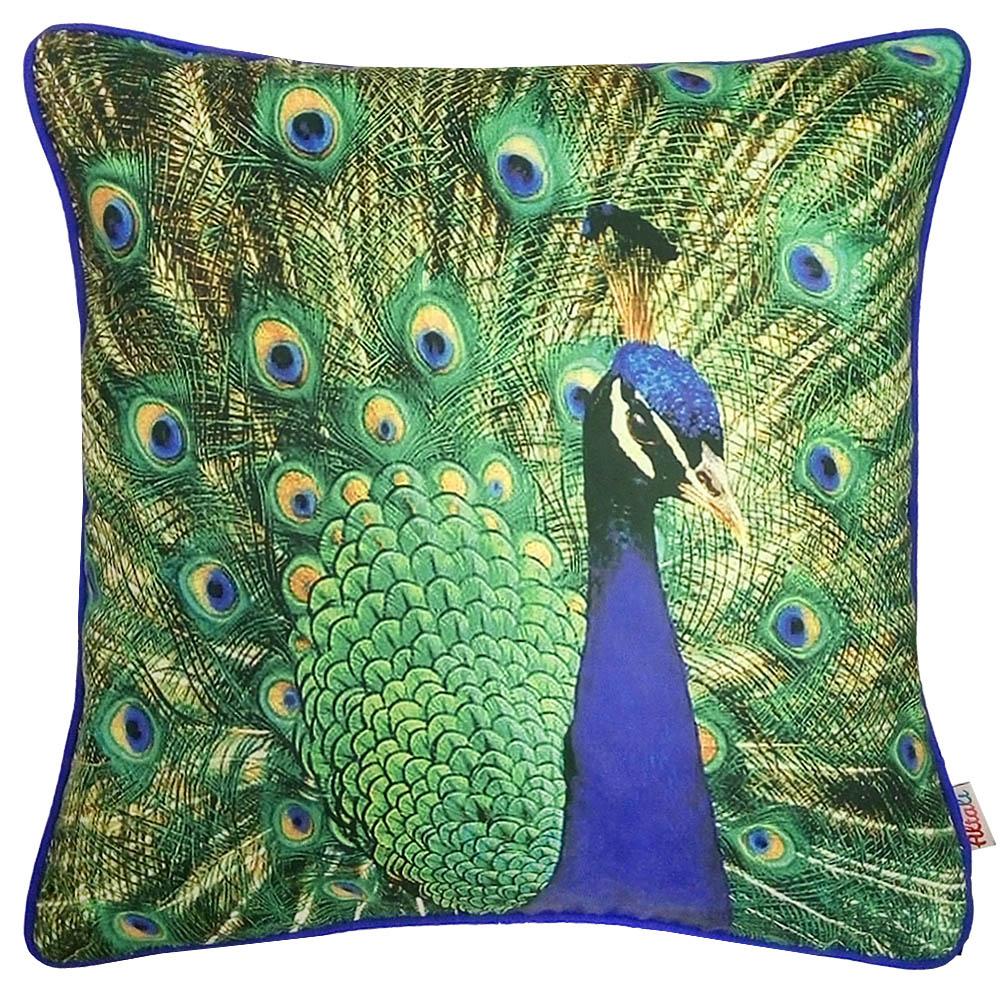Декоративные подушки Apolena Декоративная подушка Павлин (45х45) чехол для декоративной подушки кора дуба 45х45 см p02 z012 1