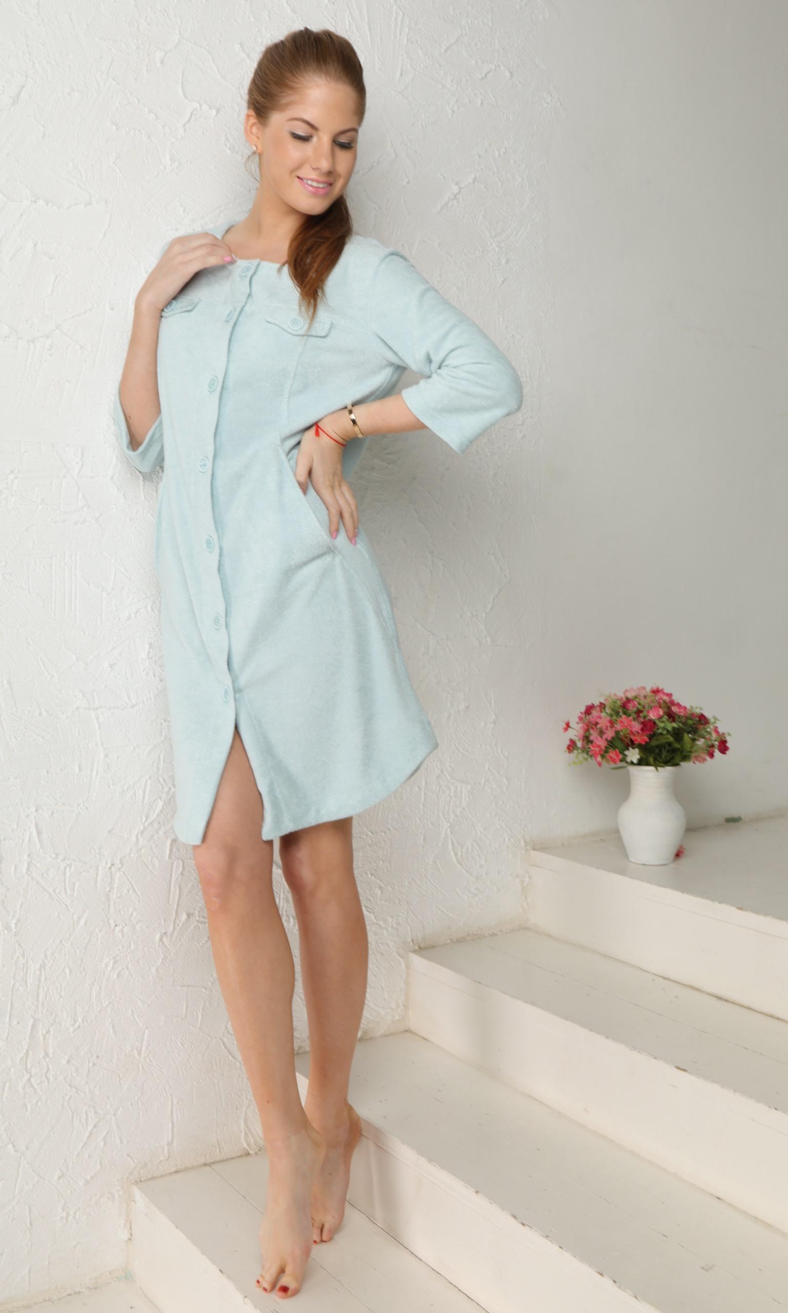 Домашние халаты Five Wien Домашний халат Bridget Цвет: Бирюзовый (S-M) халаты домашние лори халат