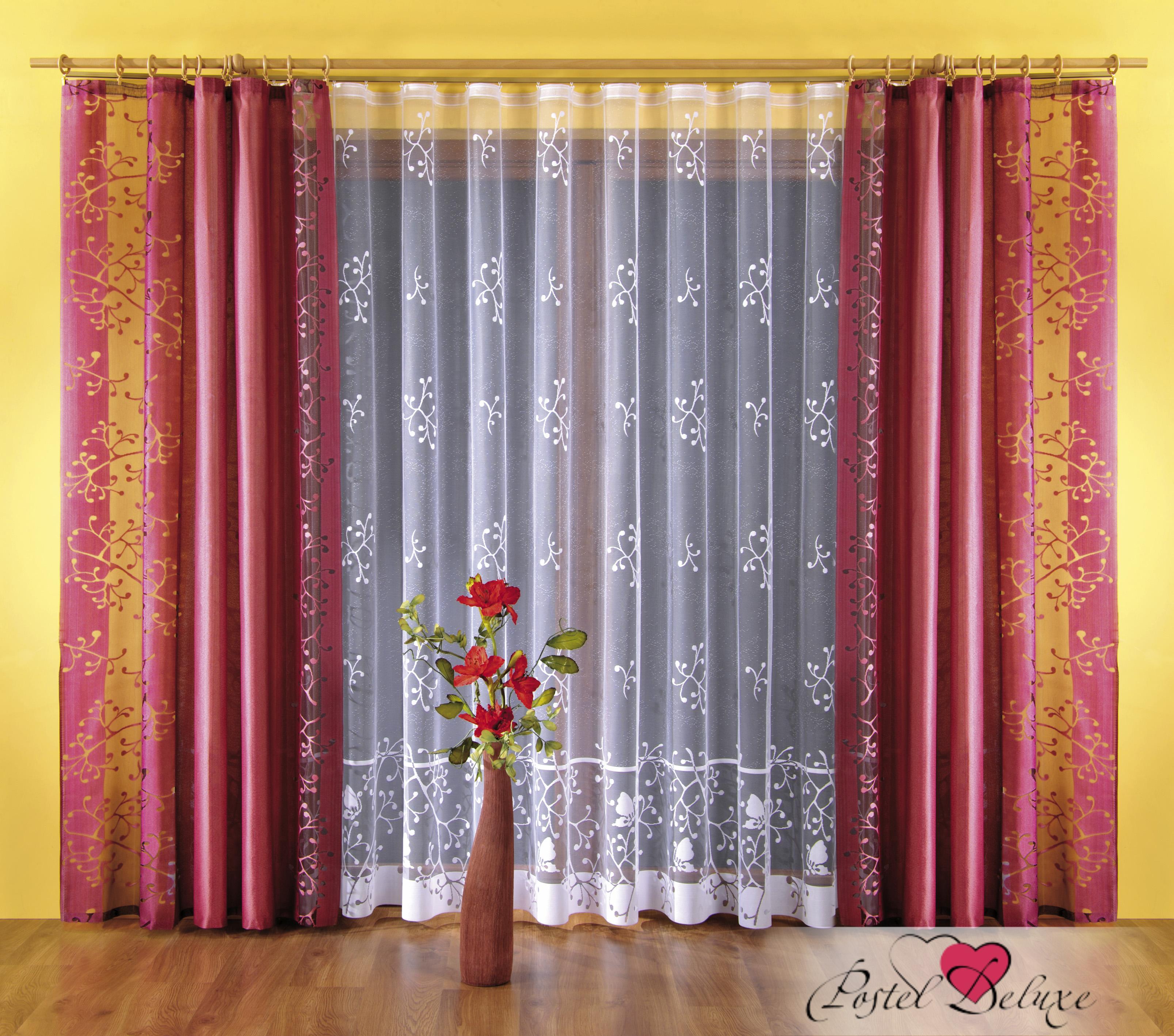 Шторы Wisan Классические шторы Цвет: Бордовый, Малиновый шторы tac классические шторы winx цвет персиковый 200x265 см