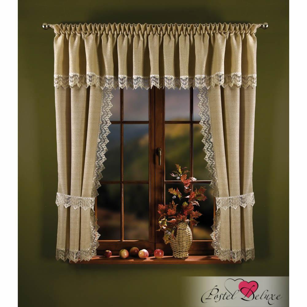 Шторы Wisan Шторы с ламбрекеном Caprice Цвет: Льняной шторы wisan шторы с ламбрекеном caprice цвет льняной