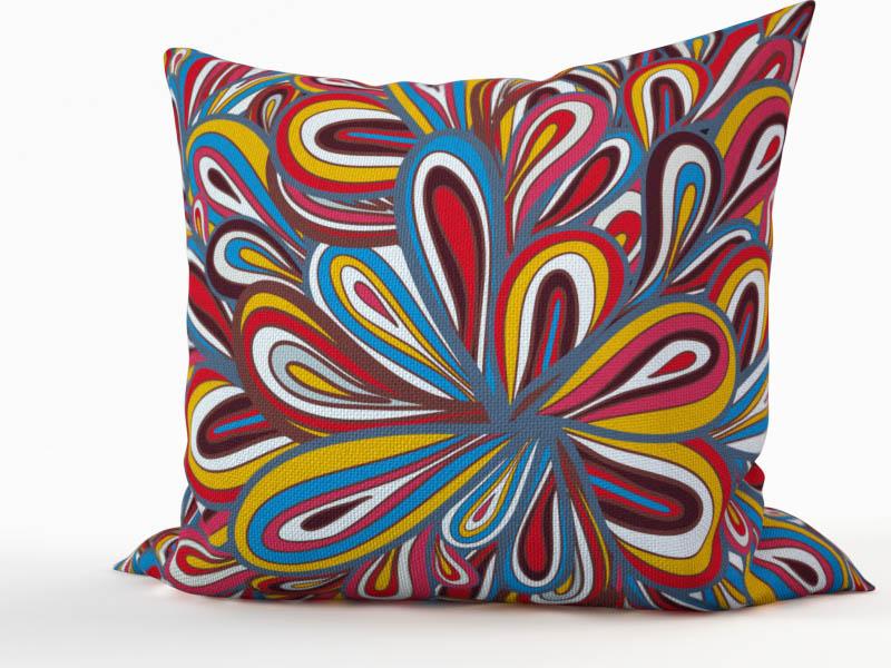 Декоративные подушки StickButik Декоративная подушка Цветная Пряжа (45х45)