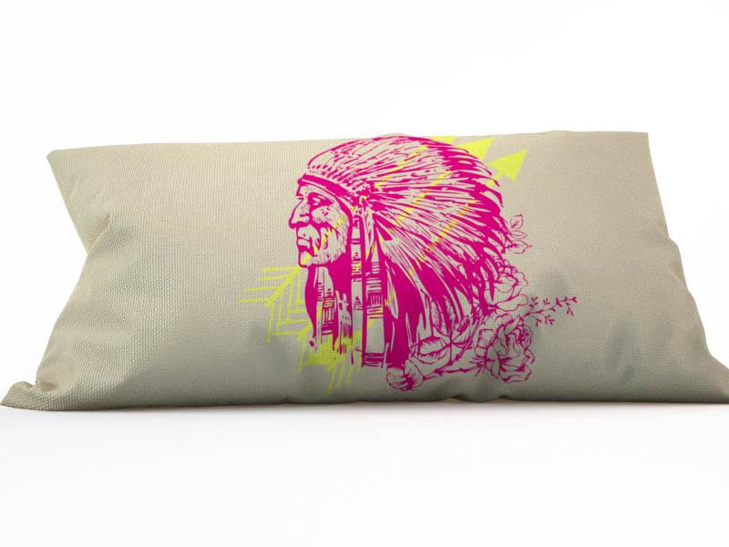 где купить Декоративные подушки StickButik Декоративная подушка Краснокожий Друг (25х45) по лучшей цене