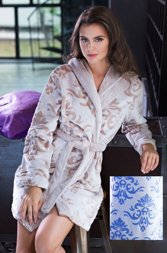 Сауны, бани и оборудование Mia-Mia Халат Tonia Цвет: Голубой (S) домашние халаты mia mia домашний халат yesenia xl