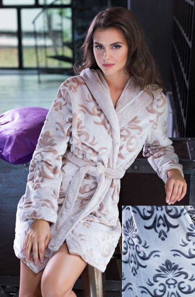 Сауны, бани и оборудование Mia-Mia Халат Tonia Цвет: Серый (S) домашние халаты mia mia домашний халат yesenia xl