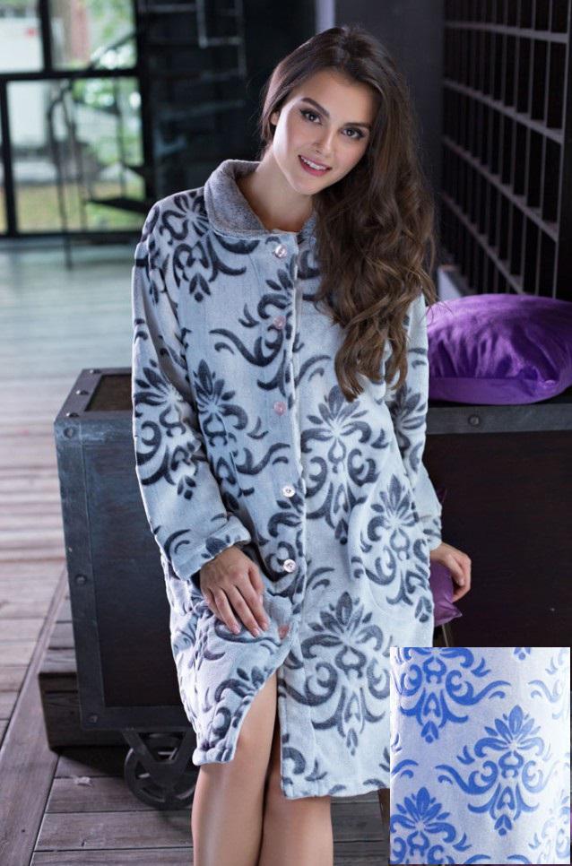 Сауны, бани и оборудование Mia-Mia Халат Tonia Цвет: Голубой (xxL) домашние халаты mia mia домашний халат yesenia xl