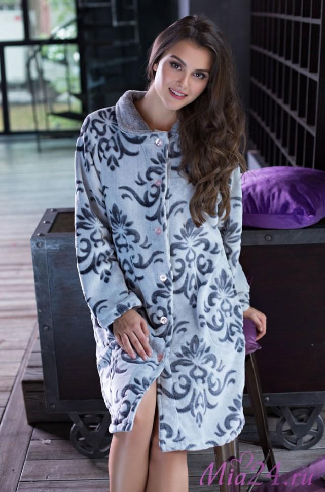 Сауны, бани и оборудование Mia-Mia Халат Tonia Цвет: Серый (L) домашние халаты mia mia домашний халат yesenia xl