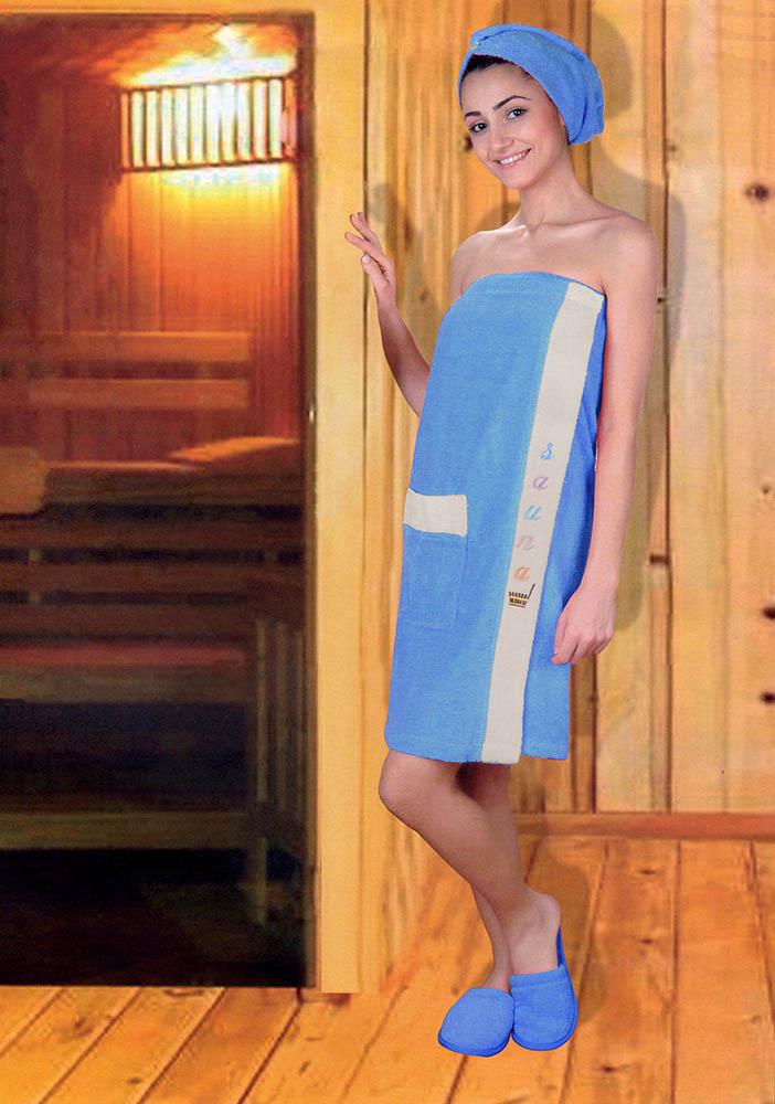Сауны, бани и оборудование Yagmur Набор для сауны Lola Цвет: Синий сауны бани и оборудование valentini набор для сауны flower цвет розовый